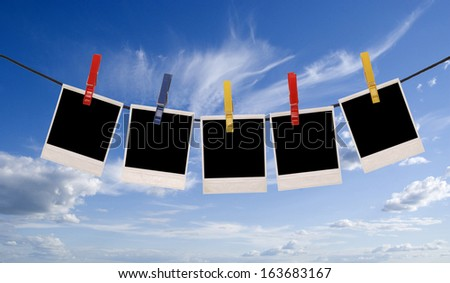 photo frames isolated over sky background