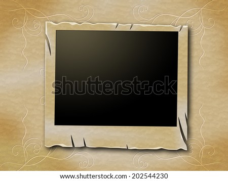 Photo Frames Meaning Blank Space And Copy-Space - stock photo