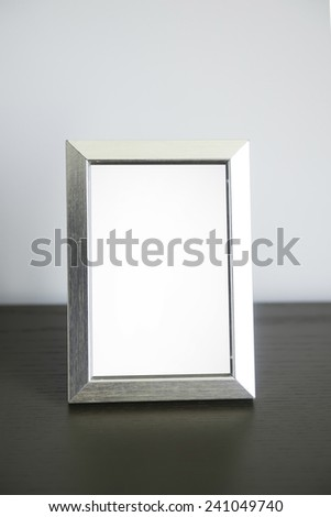 photo frames on the table - stock photo
