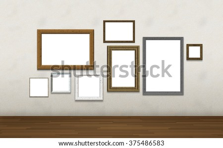 Photo frames on wall , Image include path for change picture in frames