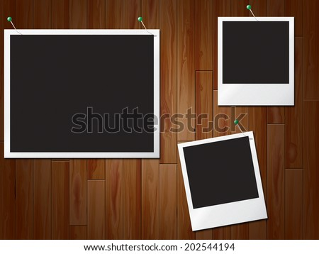 Photo Frames Representing Blank Space And Photoframe - stock photo