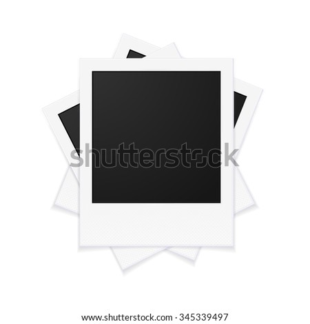 Photo Frames with Empty Space for Your Photograph. illustration