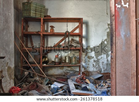 Photo from demolition  textile  factory. - stock photo