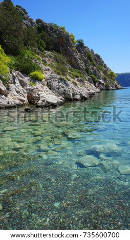 Photo from famous Psatha beach with clear turquoise waters, Attica, Greece