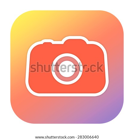 Photo icon - stock photo