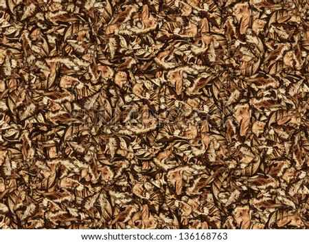 Photo Illustration of a pattern of dried leaves.