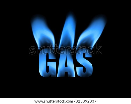 Photo illustration of natural gas featuring clean blue flames.
