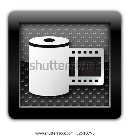Photo metal icon - stock photo