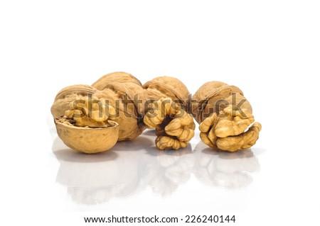 Photo od tasty walnuts group - stock photo