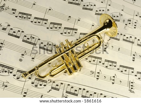 Photo of a Brass Trumpet