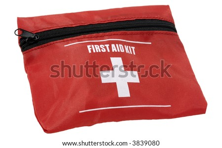 Photo of a First Aid Kit - Isolated - Health Related - stock photo