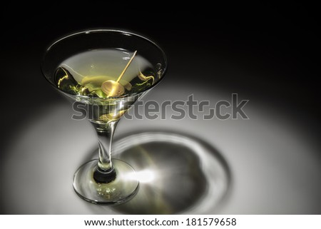 Photo of a glass of martini - stock photo