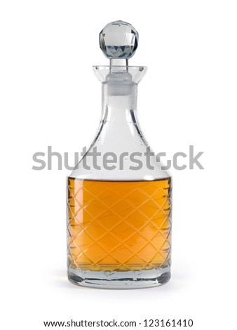 photo of a isolated whisky decanter clipping path included - Whisky Decanter