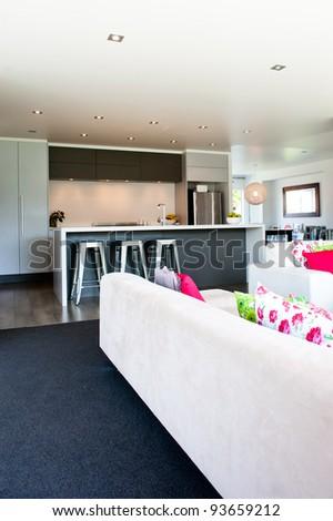 Photo of a modern interior design home - stock photo
