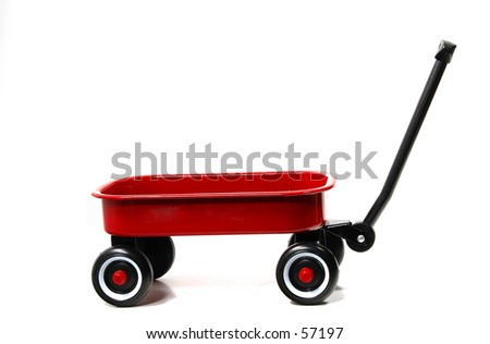 Photo of a Red Wagon - stock photo