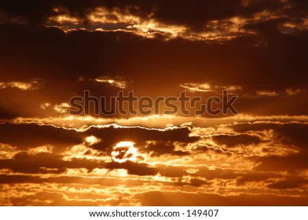 Photo of a sunset sky.