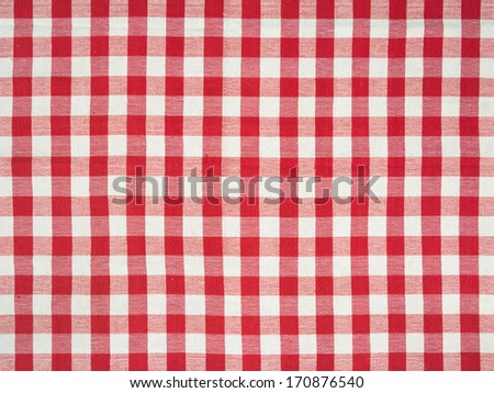 Photo of a traditional Italian tablecloth as a background.  - stock photo