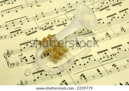 Photo of a Trumpet Ornament on SHeetmusic - Christmas Carol