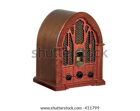 Photo of a Vintage Radio - stock photo