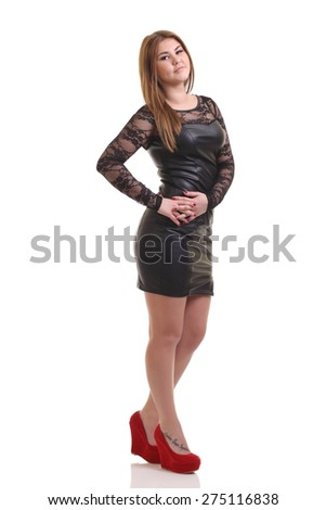 photo of a young sexy girl - stock photo