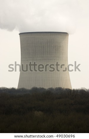 Photo of an active nuclear power station - stock photo