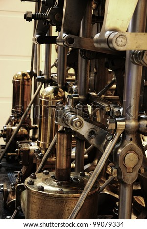 photo of an antique engine.