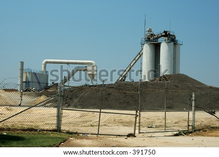 Photo of an Industrial Gravel Yard.