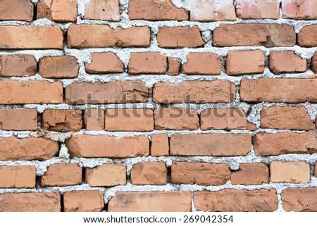 photo of an old brick wall close up shot - stock photo