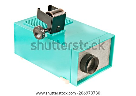 photo of an old photo tape projector. - stock photo