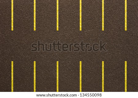 Photo of Asphalt parkinglot - Fake texture - stock photo