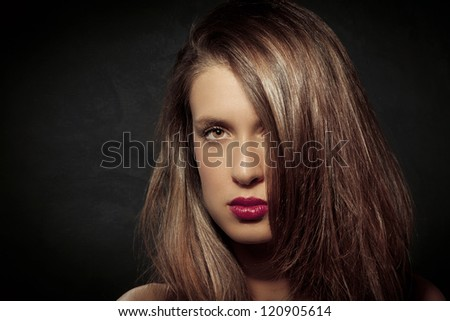 photo of attractive woman with long hairs