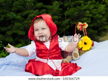 Photo of Baby Little Red Riding Hood  - stock photo