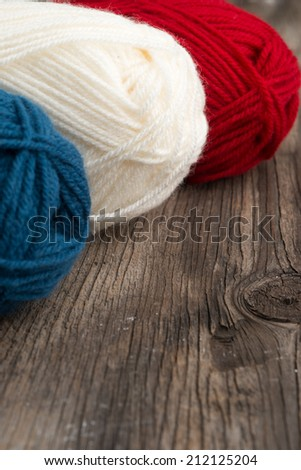 Photo of balls of wool - stock photo