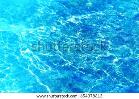 Photo of beautiful sea blue transparent water