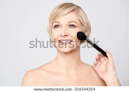 Photo of beautiful stylish woman, portrait. - stock photo