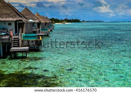 photo of beauty maldives islads - stock photo