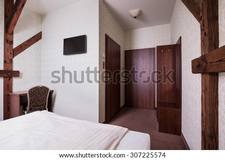 Photo of beige and brown room design