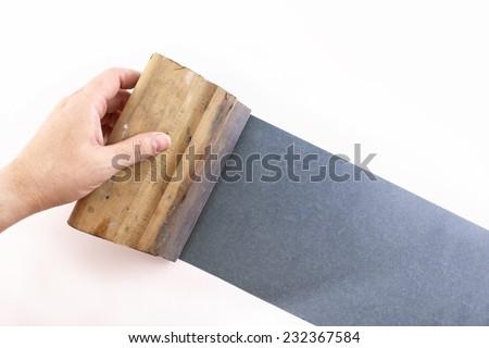 Photo of Blue silkscreening - stock photo
