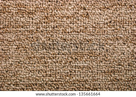Photo of Bright brown carpet (Texture) - stock photo