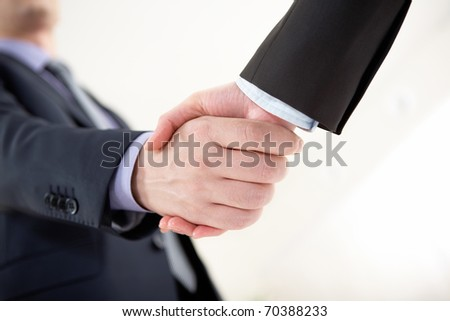 Photo of business men doing agreement - stock photo