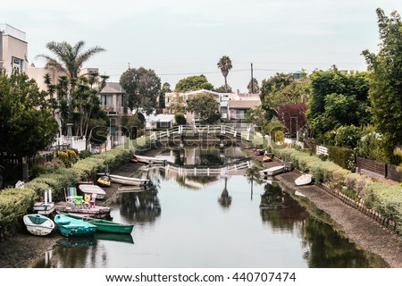 Photo of Canals in Venice, Los Angeles, California - stock photo
