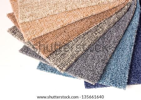 Photo of Carpet samples - stock photo