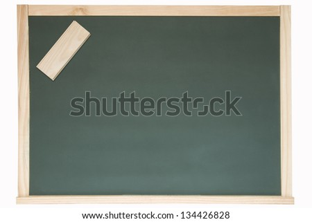 Photo of Chalkboard and eraser
