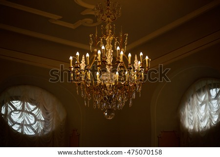 photo of chandelier with bulbs in the form of candle