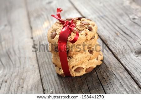 photo of chocolate cookies  - stock photo