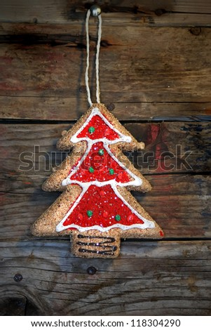 Photo of christmas cookie - stock photo