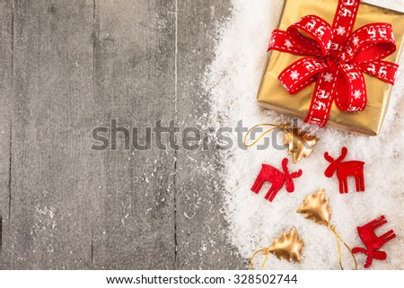 Photo of christmas presents and decorations