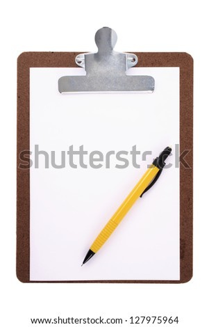 Photo of Clipboard and mechanical pencil