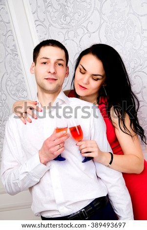 photo of Couple having a glass of wine together