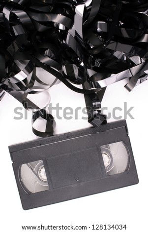 Photo of Damaged video tape